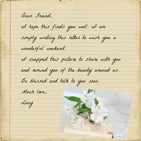 Letter My Friend dear friend letter dear friend craftberry bush dear