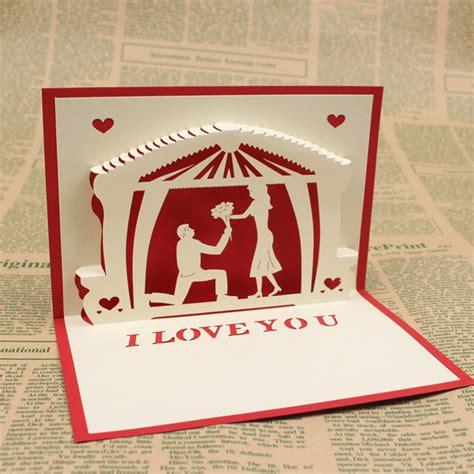 Handmade Greeting Card Designs For Anniversary - 3d pop up handmade greeting cards wedding