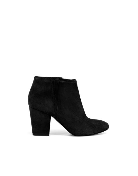 zara high heel cowboy ankle boot in black lyst