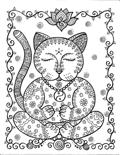 abstract cat coloring pages cat abstract doodle zentangle paisley coloring pages