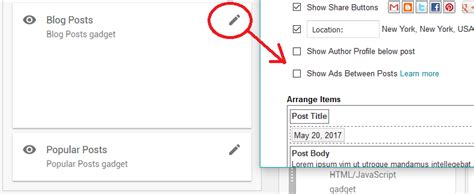 between blogspot different places to put google adsense in the new official