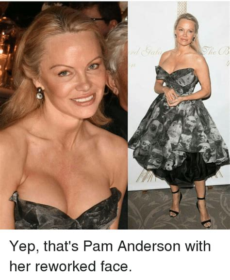 Pamela Meme - 00 yep that s pam anderson with her reworked face meme