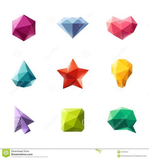 figuras geometricas vector figuras geom 233 tricas poligonales sistema de elementos del