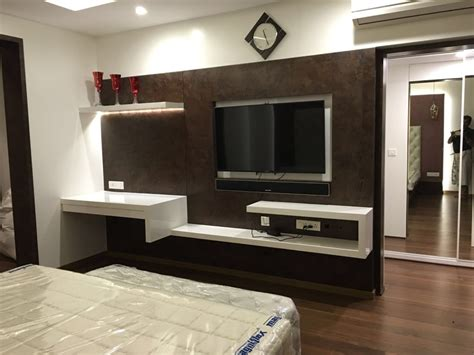 master bedroom tv unit bedroom  studio stimulus homify