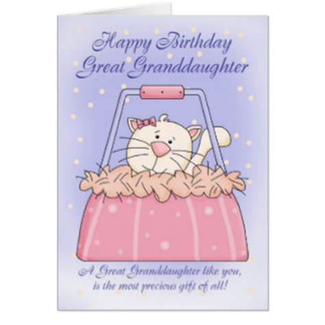 Great Granddaughter 1st Birthday Card Great Granddaughter Cards Invitations Zazzle Co Uk