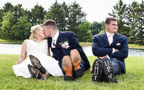 Couple's Funny Wedding Photos With 'Heartbroken' Best Man