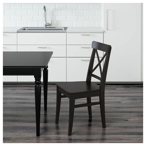 ingolf stuhl ingolf chair brown black ikea