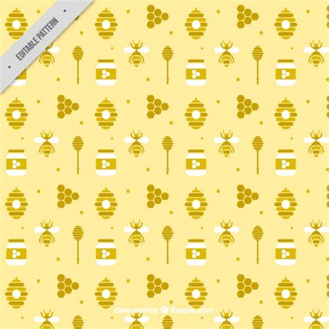 honey pattern vector cute honey flat pattern vector free download