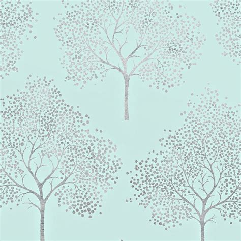 Cream Kitchen Green Walls - i love wallpaper glitter tree wallpaper teal silver glitter ilw980029 wallpaper from i