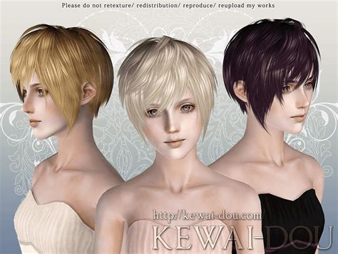 short female hair sims 3 my sims 3 blog kewai dou masquerade hair for males females