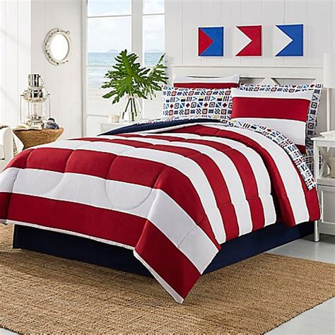 red and white striped comforter rugby bedding collection bed bath beyond