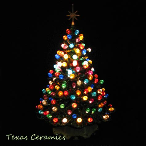 ceramic lighted tabletop christmas tree tabletop ceramic tree shenandoah pine 10 inch lots of lights texasceramics
