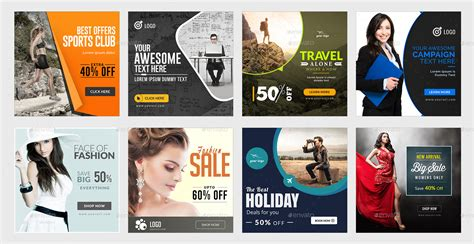 Instagram Ad Templates 100 Banners By Doto Graphicriver Instagram Ad Template