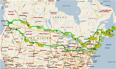 map of us and canada highways canada map road