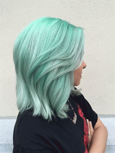 mint color hair stunning mint green hair colors for 2017 best hair color