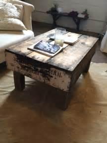 vintage crate coffee table in central la los angeles