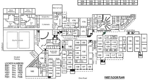 high school floor plans ellison high school