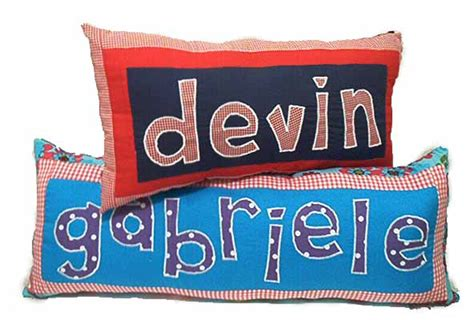 Pillow Name by Personalized Name Pillows