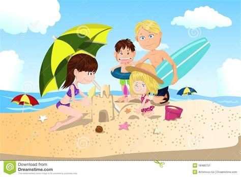 imagenes animadas vacaciones playa vacaciones de familia de la playa ilustraci 243 n del vector