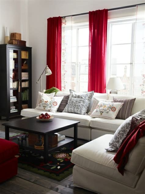 curtains red living room pictures to pin on pinterest 35 red curtains for royal elegance to your living room