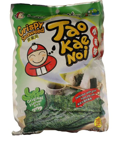 Tao Kae Noi Roll Spicy Squid 3 6g tao kae noi crispy seaweed snack tom yum spicy flavor thai