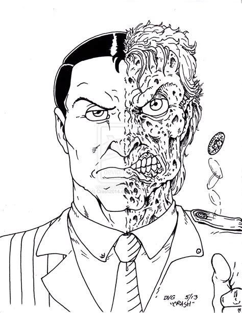 lego two face free coloring pages
