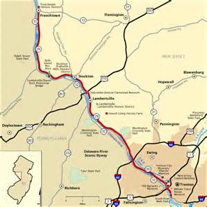 delaware river scenic byway map america s byways