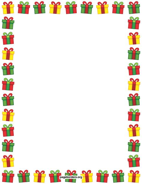 Clipart Border Of Gifts And by Present Border Clip Page Border And