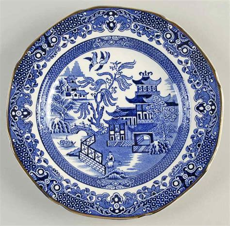willow pattern with gold trim burgess leigh blue willow gold trim dessert pie plate
