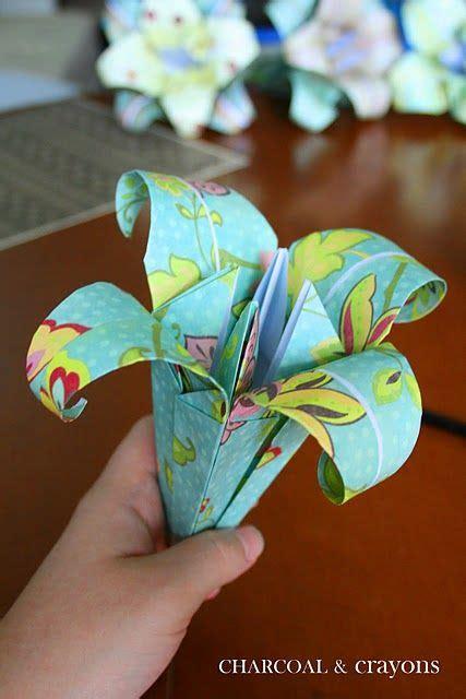 Blumenstrauß Aus Papier Basteln 4726 by Wie Eine Papier Lilie Zu Falten Papierarbeiten
