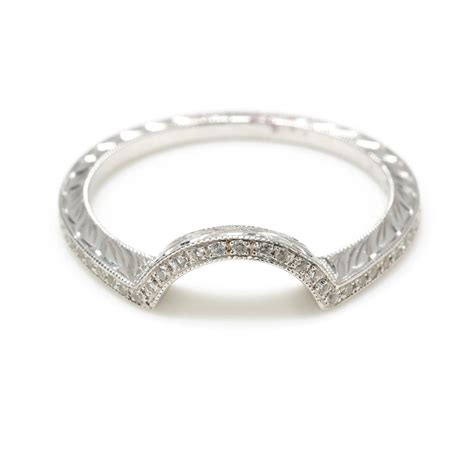 Wedding Bands To Fit Around Engagement Ring by Fit Wedding Bands Shadow Band With Diamonds