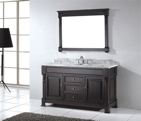 How To Convert 60 Inch Single Sink Vanity The Homy Design 60 In Sink Bathroom Vanity