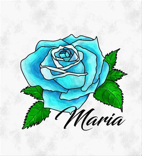 imagenes de rosas azules para dibujar rosas azules por maria26 dibujando