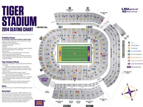 tiger stadium diagram lsusports net the official web