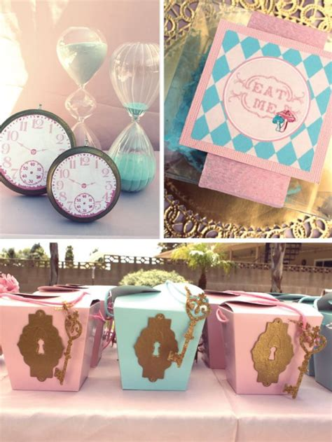 Alice In Wonderland Party Giveaways - alice in wonderland party decor key hole favor boxes alice in wonderland party food