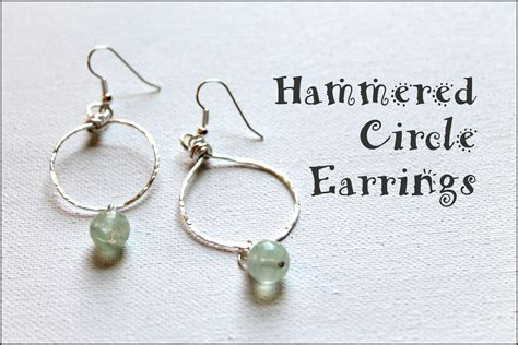 how to make hammered jewelry how to make hammered circle earrings emerging creatively