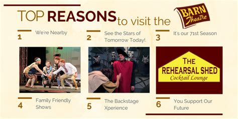 8 Reasons To Go To College by Barn Theatre School For Advanced Theatre Top 8