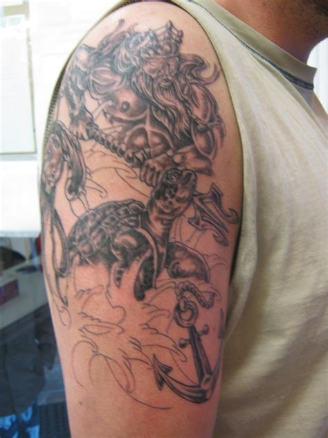 tattoo pictures of king neptune king neptune half sleeve by kenpower on deviantart