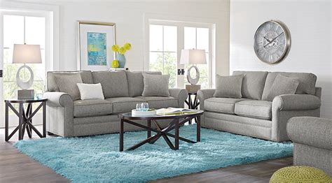 cindy crawford home bellingham gray 7 pc living room living room sets gray