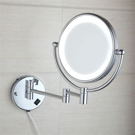 new beauty cosmetic wall mount bathroom mirror square new wall mounted double sided normal magnifying light