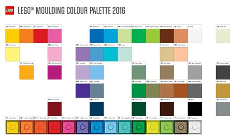 lego colors here s this year s official colour palette brickset