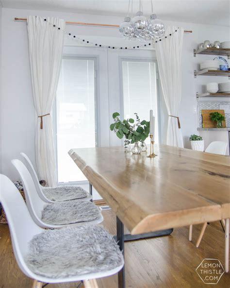 diy dining room table metal legs diy live edge table with steel base lemon thistle