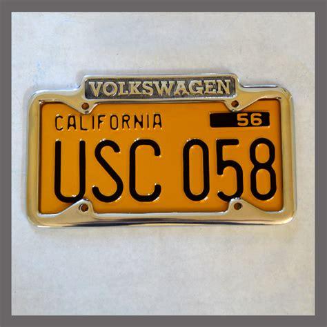 volkswagen vw polished license plate frame for sale