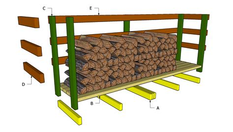 Firewood Rack Plans Free by Diy Wood Shed Plans Discover Woodworking Projects