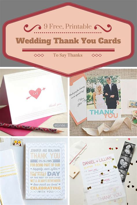 how to say thank you for a wedding gift say thanks to all your wedding guests with these free printable cards card