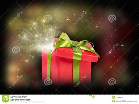 christmas gift surprise stock photos image 33948933