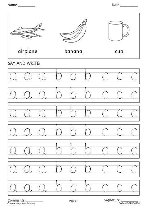 printable worksheets reception alphabet and letters simple and cursive handwriting worksheets