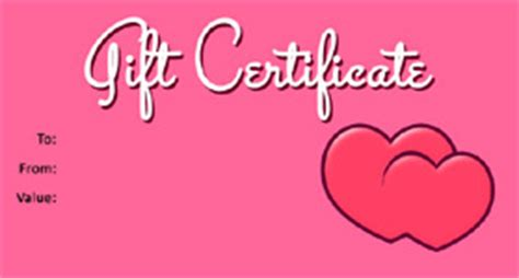 gift template select a gift certificate template to