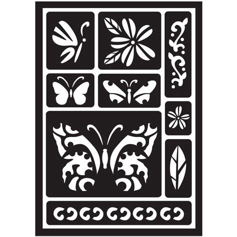 home depot paint stencils folkart butterfly peel and stick painting stencils 30582
