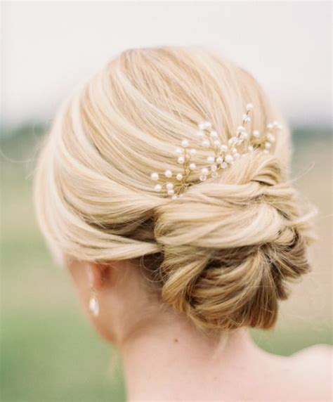 Wedding Hairstyles Low Updo by Chignon Wedding Hair